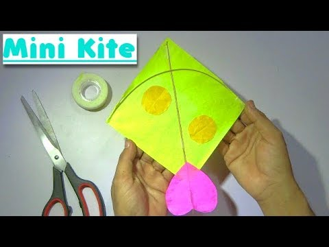 How to make a mini paper kite | kite making | Easy to make a small kite for decoration