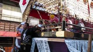 2009.11.22・23 下総三山の七年祭。 大和田地区の大型屋台。 22日は二宮...