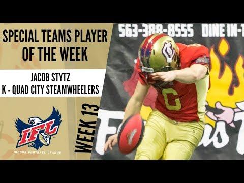 IFL Week 13 Special Teams Player of the Week: Jacob Stytz