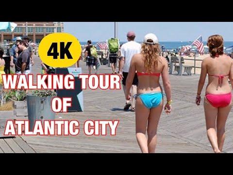 ⁴ᴷ⁶⁰ ATLANTIC CITY WALKING TOUR DURING PANDEMIC (Atlantic City NJ Boardwalk: Walk On The Boardwalk)