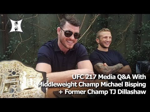 UFC 217 Media Q&A With Middleweight Champ Michael Bisping + Former Champ TJ Dillashaw (FULL / HD)