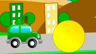 Children's Cartoons - Clever Cars 3: Learn 2d 3d Shapes Kid's Educational Videos