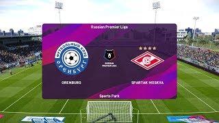 PES 2020   Orenburg vs Spartak Moscow - Russian Premier Liga   14/03/2020   1080p 60FPS