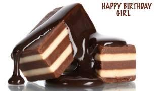Girl  Chocolate - Happy Birthday