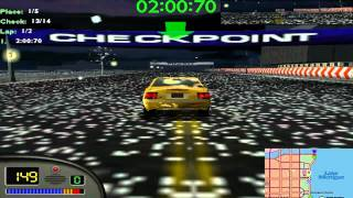 Midtown Madness 1 Gameplays Circuito 10 FINAL-Loop-De-Loop AMATEUR