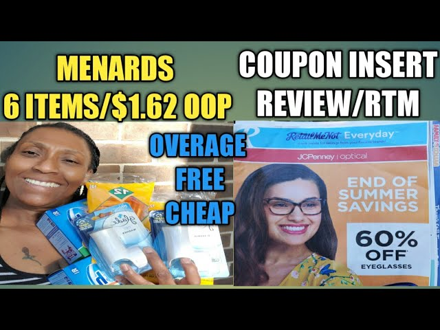 Menards Coupon Haul 9 5 2020 6 Items 1 62 Oop Free Cheap Overage Weekly Coupon Insert Review Youtube