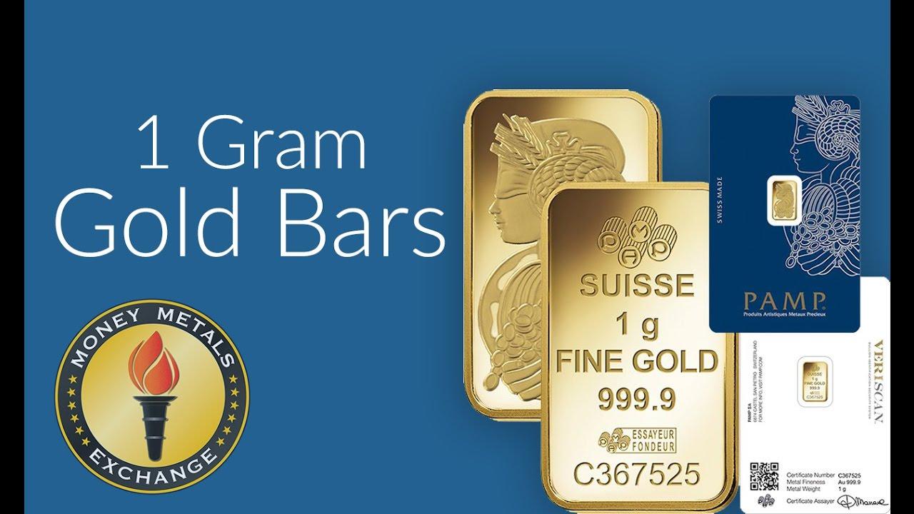 3ef2d96d9ae57 Buy 1 Gram Gold Bars Online | 1 Gram of Gold | Money Metals®