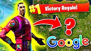 USING GOOGLE TO WIN IN FORTNITE BATTLE ROYALE!