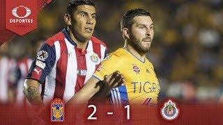 Resumen Tigres 2 - 1 Chivas | Clausura 2019 - J17 | Televisa Deportes