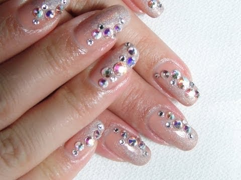 Nail Challenge 4 Swarovski Crystal Nail Art Youtube