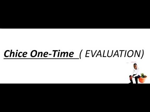 Chice- EVALUATION (Audio)