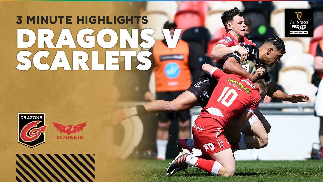 3 Minute Highlights: Dragons v Scarlets | Round 1 | Guinness PRO14 Rainbow Cup