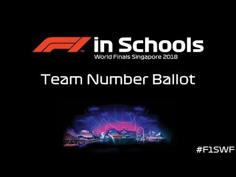 F1 in Schools World Finals 2018 Team Number Ballot