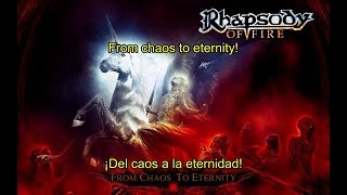Rhapsody of Fire - Ad Infinitum + From Chaos To Eternity (Lyrics & Sub. Español)