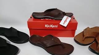 Sendal Selop Kickers Kulit - Sendal Kulit Size 39-43 - Sendal Formal - Sandal Cowok - Sandal Murah