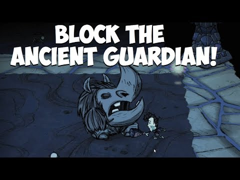 Don't Starve Together → Block the Ancient Guardian without Pillar/Grave