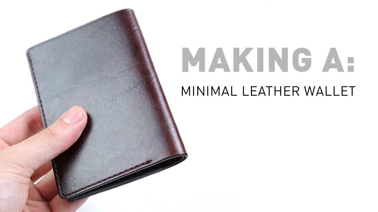 Making a minimal leather wallet youtube making a minimal leather wallet jeuxipadfo Choice Image