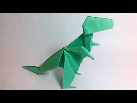 Origami Tyrannosaurus Rex (John Montroll) - Dinosaur #1