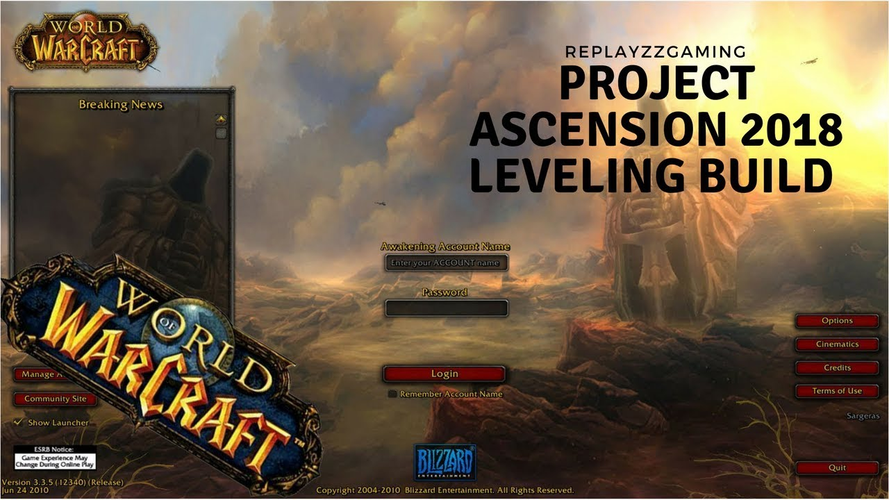 Project Ascension 2018 Leveling build (1-40) Solo DPS