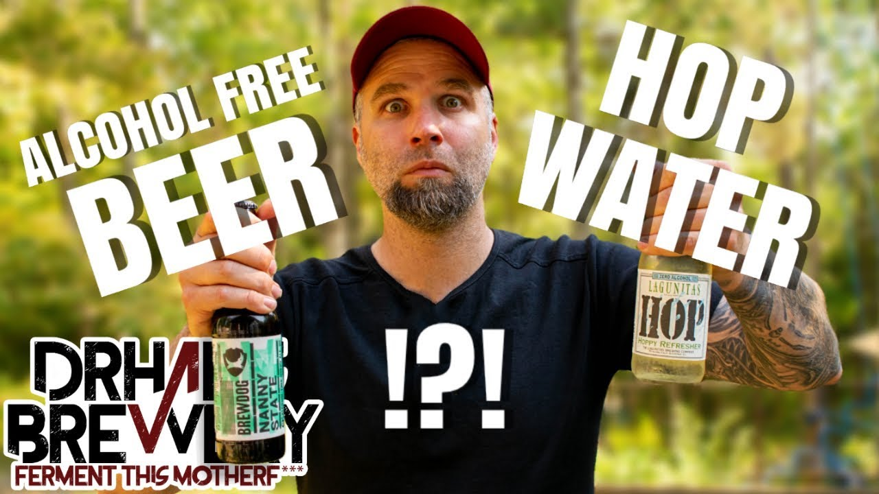 Hop Water VS Alcohol Free Beer - Live Beer Review - YouTube