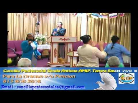 Culto Evangelistco Concilio Pentecostal Senda Antigua AMIP Tampa Bay. - 08-14-2016