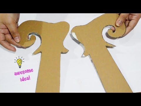 How to make christmas elf door hanger from cardboard| how to make christmas decor