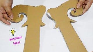 How to make christmas elf door hanger from cardboard| how to make christmas decor