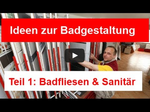 Badfliesen - Badgestaltung Teil 1 - YouTube