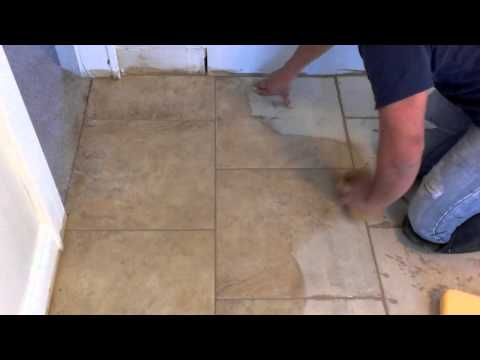 How to apply grout after tile installation part 3