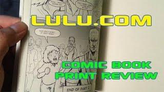 Lulu.com Self-Publish Comic Book Jackpot Bloom Printed Proof 2 Review