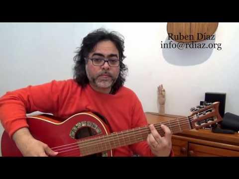 Practice modal improvisation with Paco de Lucia´s fingerings (Intermediate level 1) Ruben Diaz Spain