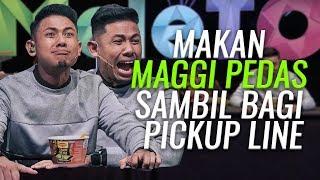 Makan Maggi PEDAS sambil bagi pickup line | Radin , Nabil , Siti Elizad | MeleTOP