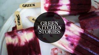 Yogurt & Blueberry Popsicles | Green Kitchen Stories