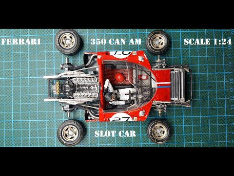 TOP Slot Car Ferrari 350 Ultra High detailled 1/24 built up by Niemas Racecars