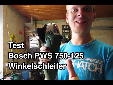 test bosch pws 750 125 winkelschleifer indoor. Black Bedroom Furniture Sets. Home Design Ideas