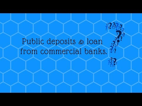 loan from commercial bank(&public deposits in Hindi )