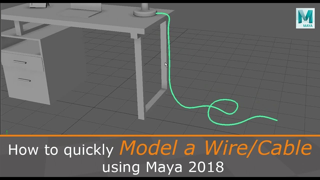 How To Quickly Model A Wire Cable Using Maya 2018 Youtube