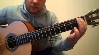 Крутая восточная мелодия на гитаре.Дидюля.Урок