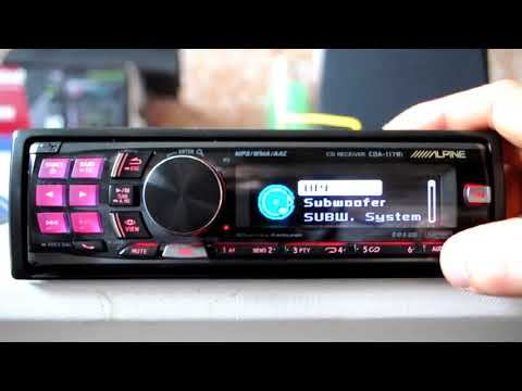 Alpine CDA117Ri CD  MP3  WMA, iPod ready car stereo with Tagging function