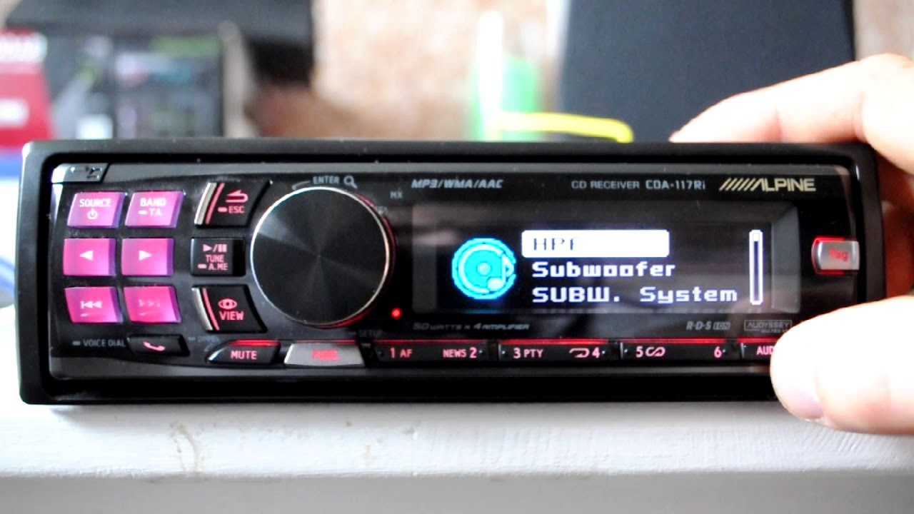 alpine cda 117ri cd mp3 wma ipod ready car stereo. Black Bedroom Furniture Sets. Home Design Ideas