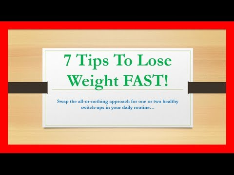 7 Tips to Lose Weight FAST for Women at Home
