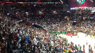 Boston Celtics guard Kyrie Irving booed in Cleveland intro