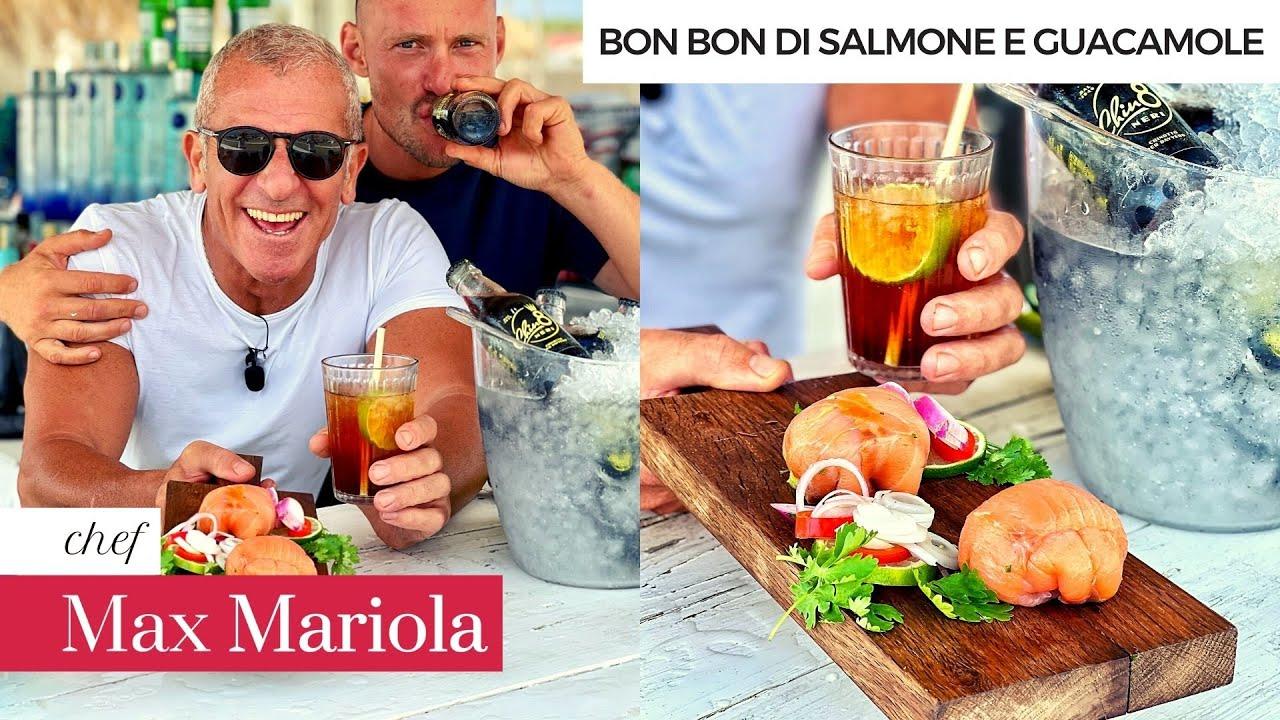 BON BON di GUACAMOLE e SALMONE AFFUMICATO (ricetta) Aperitivo light con Chef Max