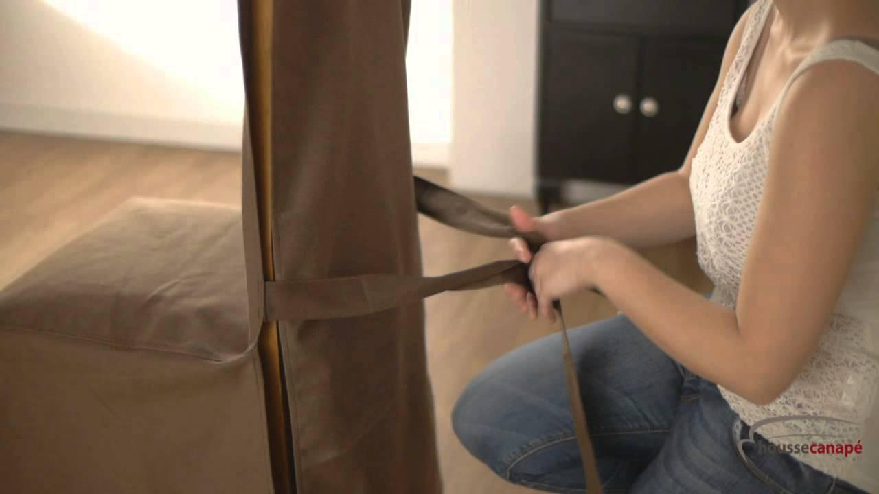 Favori Comment poser une housse pour chaise d'hôtellerie - YouTube HV14