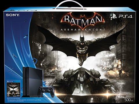 Batman Arkham Knight PS4 Bundle Unboxing - YouTube