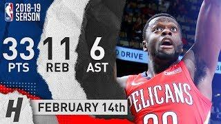 Julius Randle Full Highlights Pelicans vs Thunder 2019.02.14 - 33 Pts, 11 Reb, 6 Ast!