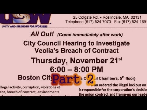 City Council Hearing PART 2 to Investigate Veolia's Breach o