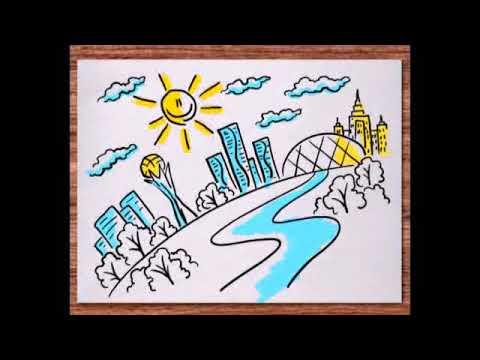 Как нарисовать чистый город