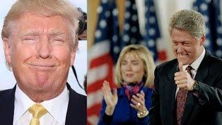 Как стать президентом: Трамп обвинил Билла Клинтона в изнасиловании