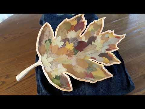 Leaves set in resin router project..